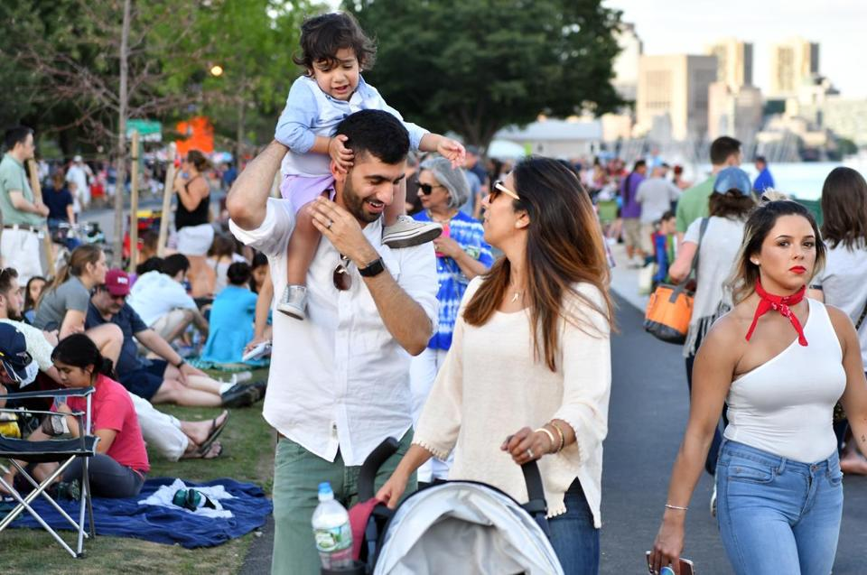Ahsan and Meryum Ali and their son 2-year-old Zeeshan enjoyed the fun along Memorial Drive on July Fourth.