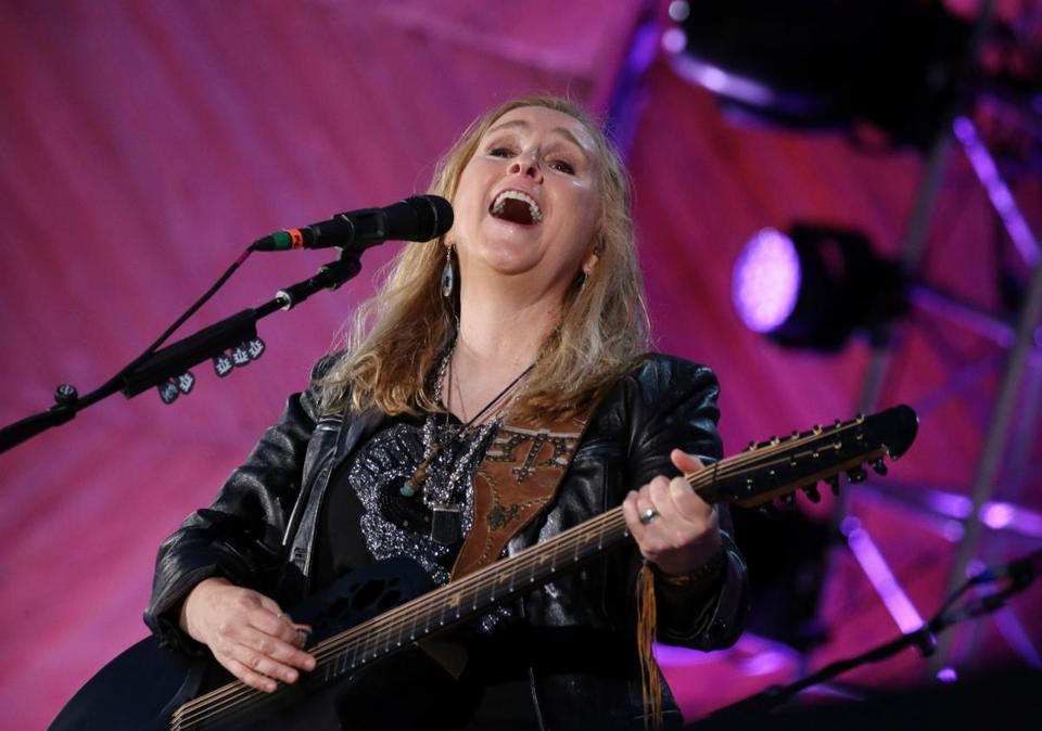 Melissa Etheridge performs during the Boston Pops Fireworks Spectacular.