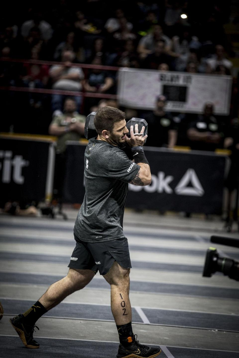 "Vermont's Mat Fraser, who won the CrossFit regionals East  this year, believes in Bergeron's pep talks. ""He'll make us think we're capable of running through a brick wall."""
