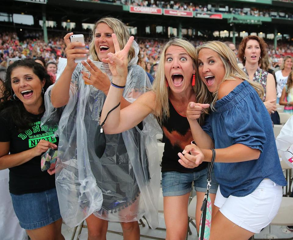 Fans enjoyed themselves during the concert that featured Boston's own New Kids on the Block, as well as Boyz II Men, and Paula Abdul Saturday night at Fenway Park.