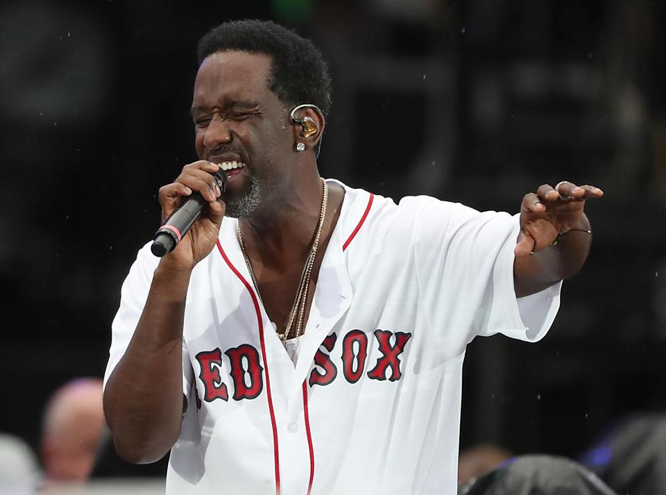 Wanya Morris performed with Boys II Men at Fenway Park.