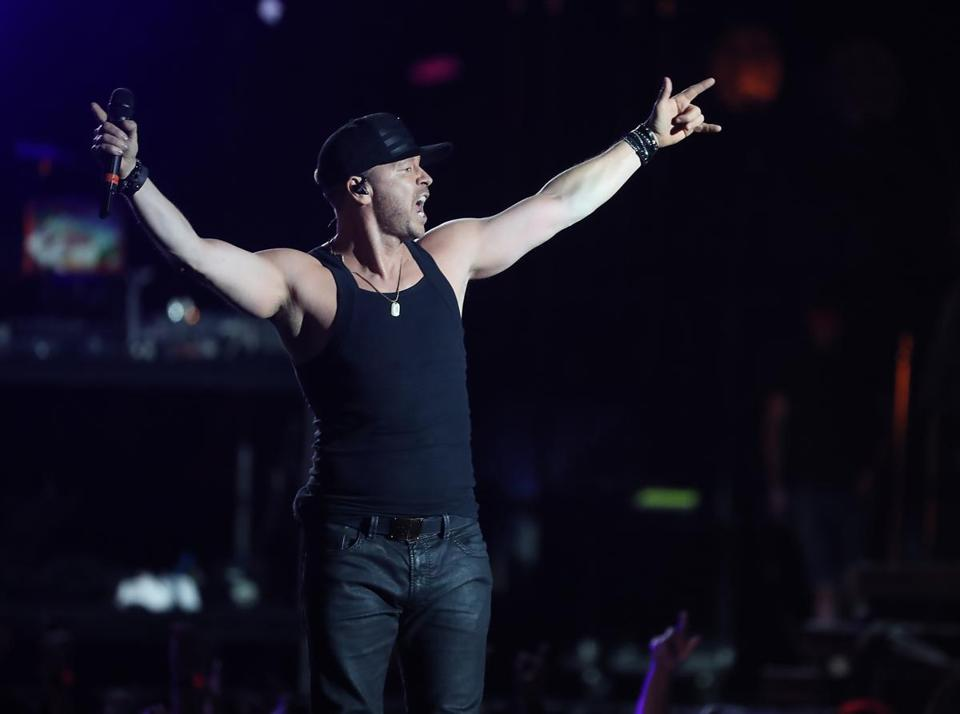 Donnie Wahlberg performed in concert with New Kids on the Block at Fenway Park.