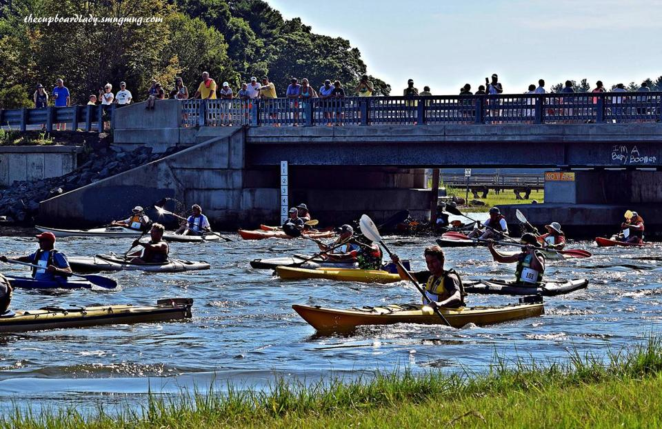 16socalendar - The Annual Great River Race on the North River starts at Bridge Street Canoe Launch in Norwell and ends in Hanover. Organized by the North and South Rivers Watershed Association. (Lisa Irwin)