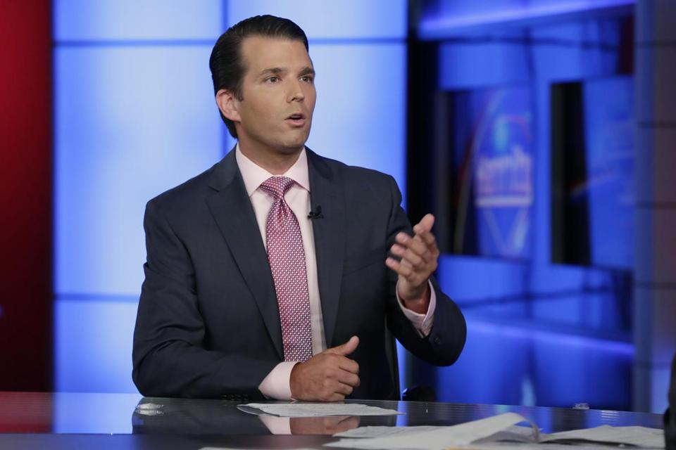 Donald Trump Jr. was interviewed by Sean Hannity on Fox News on Tuesday.