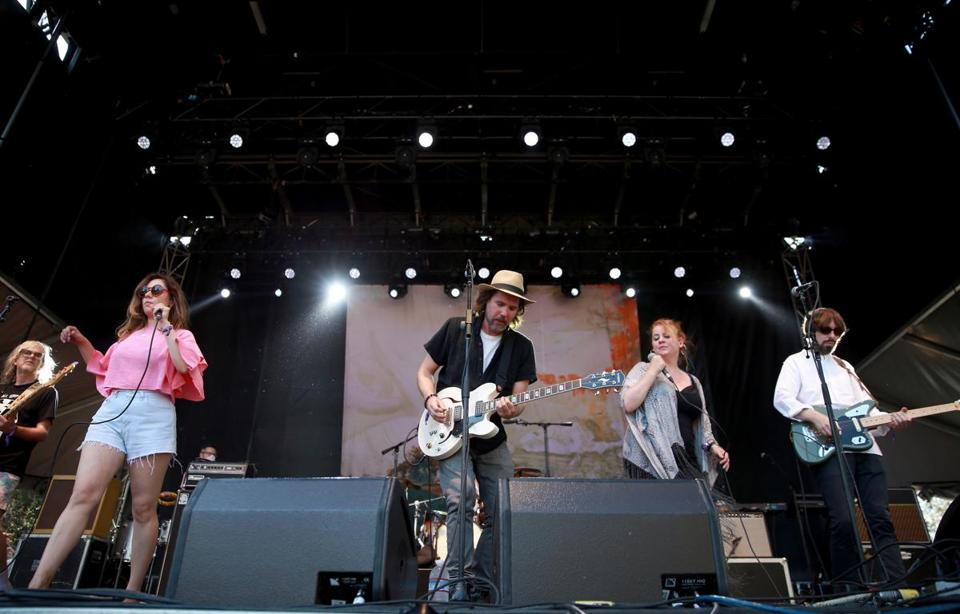 Broken Social Scene shown performing in Pasadena, Calif., in June.