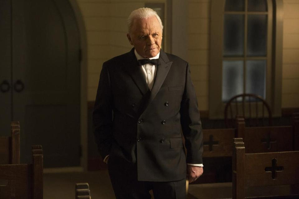 "Anthony Hopkins in a scene from ""Westworld."""