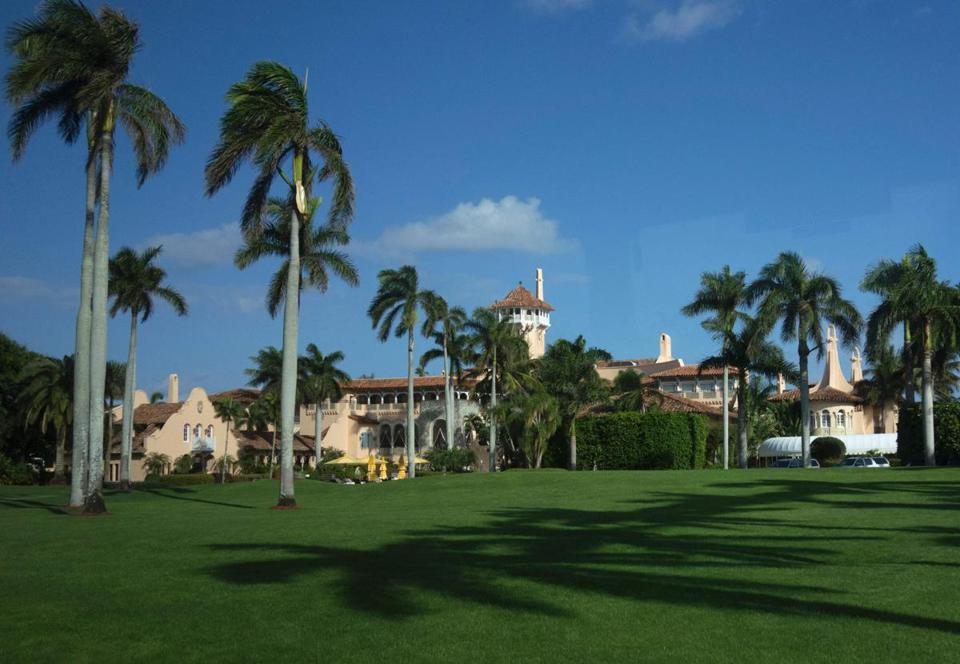 "(FILES) This file photo taken on January 1, 2017 shows the Mar-a-Lago Club at Mar-a-Lago in Palm Beach, Florida. A US court has asked President Donald Trump's staff to turn over records of visitors to his Mar-a-Lago estate in Florida, according to a ruling made public on July 17, 2017. As president, Trump has visited his southern bolthole -- which he calls the ""Winter White House"" -- seven times between February and May when it closed for the season, according to an AFP tally. / AFP PHOTO / DON EMMERTDON EMMERT/AFP/Getty Images"