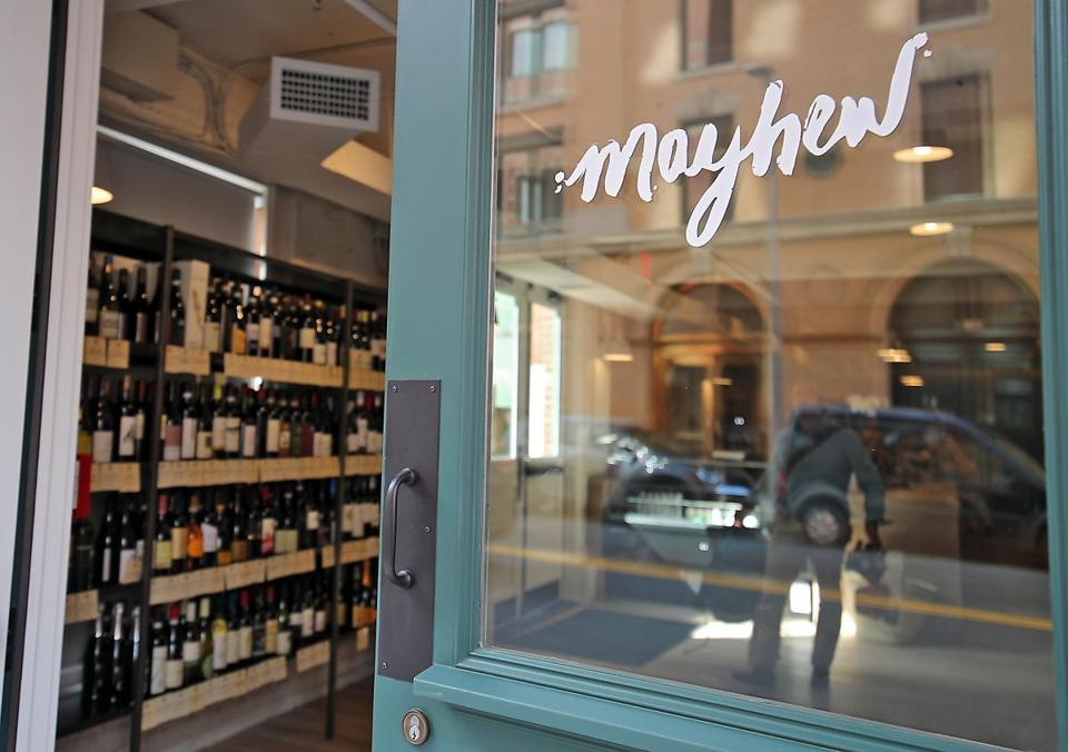 South Boston MA 07/22/17 Mayhew a retail wine shop in the Fort Point neighborhood is located across the street from the New Amazon Headquarters. (Matthew J. Lee/Globe staff) topic: reporter: