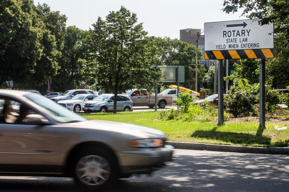 07/16/2015 BOSTON, MA Traffic around Kosciuszko Circle (cq) in Dorchester. (Aram Boghosian for The Boston Globe) Massintersections