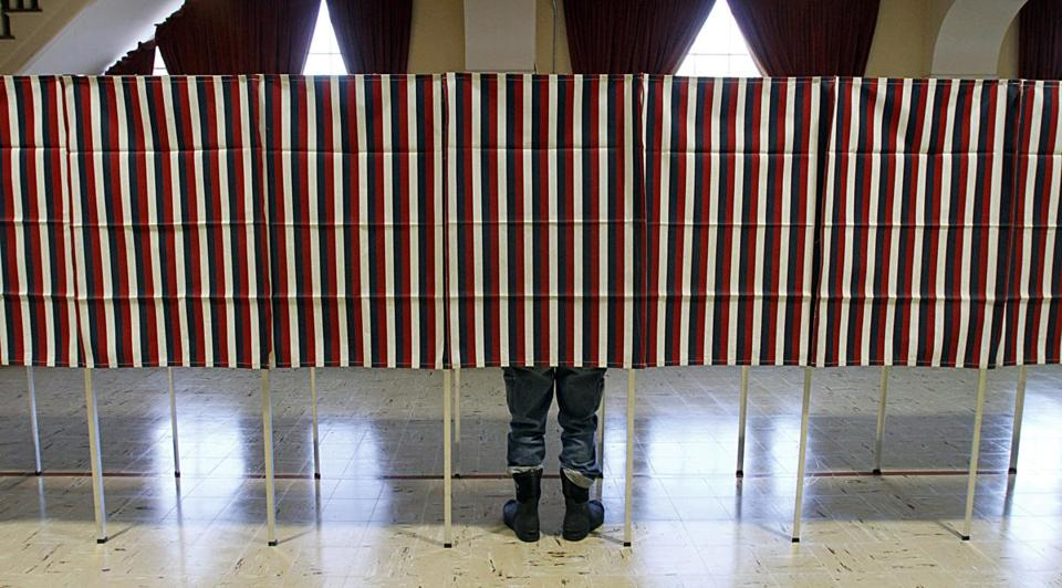 A voter in Montpelier, Vt., cast a ballot for the Republican presidential primary in 2012.