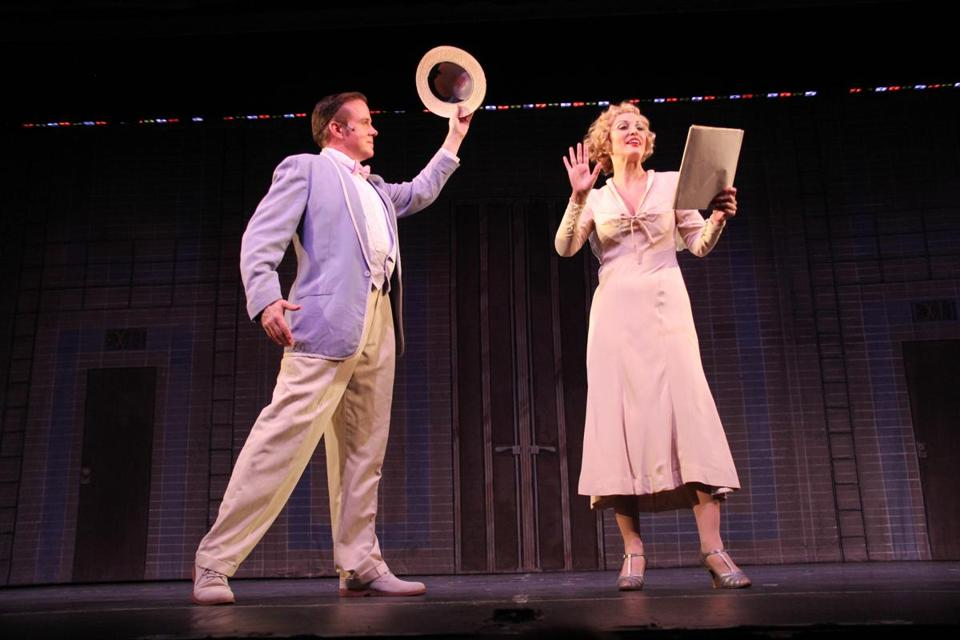 "James Darrah and Rachel York in Reagle Music Theatre's production of ""42nd Street."""