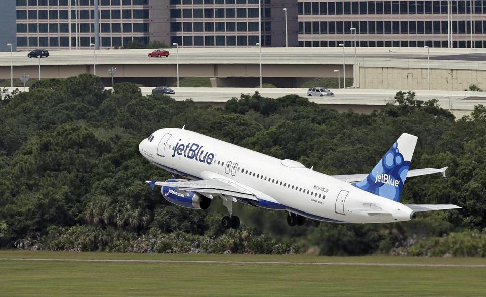 JetBlue Airways was the least likely US airline to bump a passenger because of overbooking, according to a new report.
