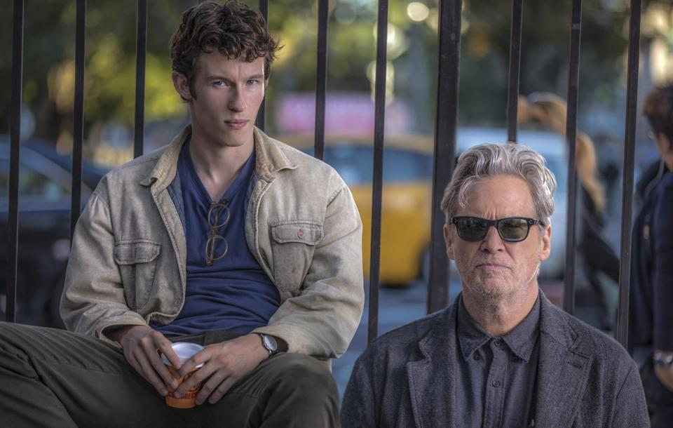 "Callum Turner (left) and Jeff Bridges in ""The Only Living Boy in New York."""