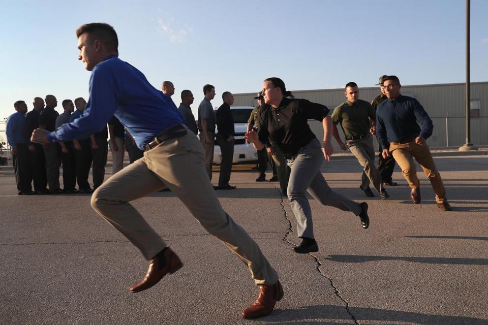 US border patrol agents in training