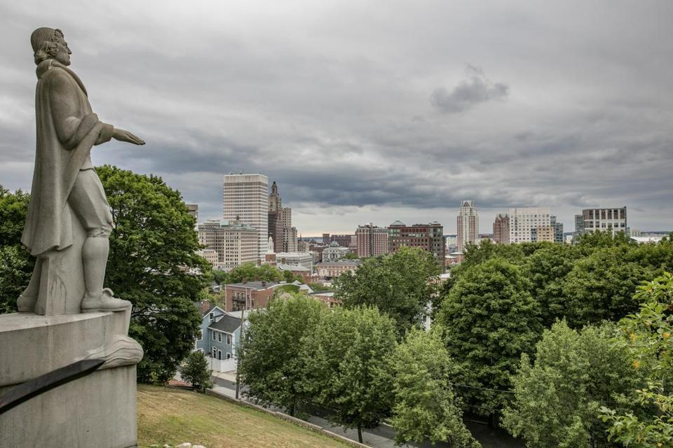 A view from Prospect Terrace Park in Providence, the only major metropolitan area where the price of a popular Affordable Care Act plan is set to go down in 2018.