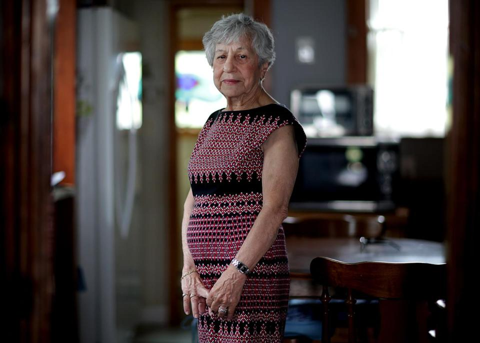08/18/2017 Boston Ma- Joan Tanos (cq) had her phone service abruptly terminated by Verizon despite her being 84 years old. . Jonathan Wiggs\Globe Staff Reporter:Topic.