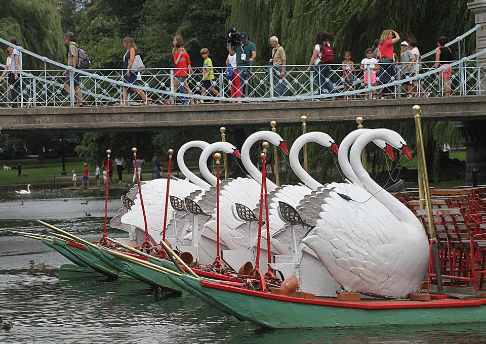 The swan boats in the Public Garden will be closed Saturday due to the rally on Boston Common.