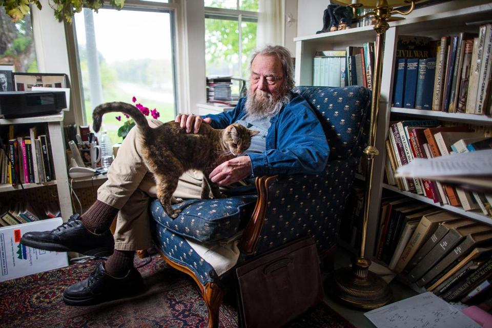 Mr. Hall was photographed at his home in Wilmot, N.H., in 2013. The home belonged to his great-grandparents and was built in 1803.