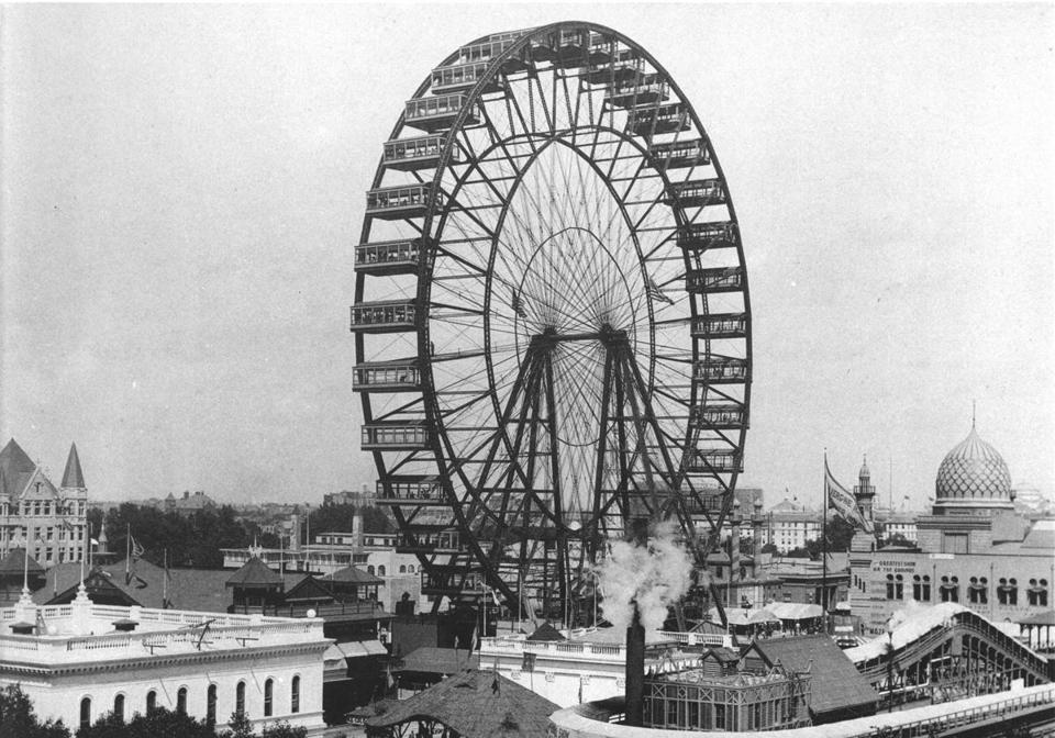 The Ferris wheel at the 1893 Columbian Exposition.