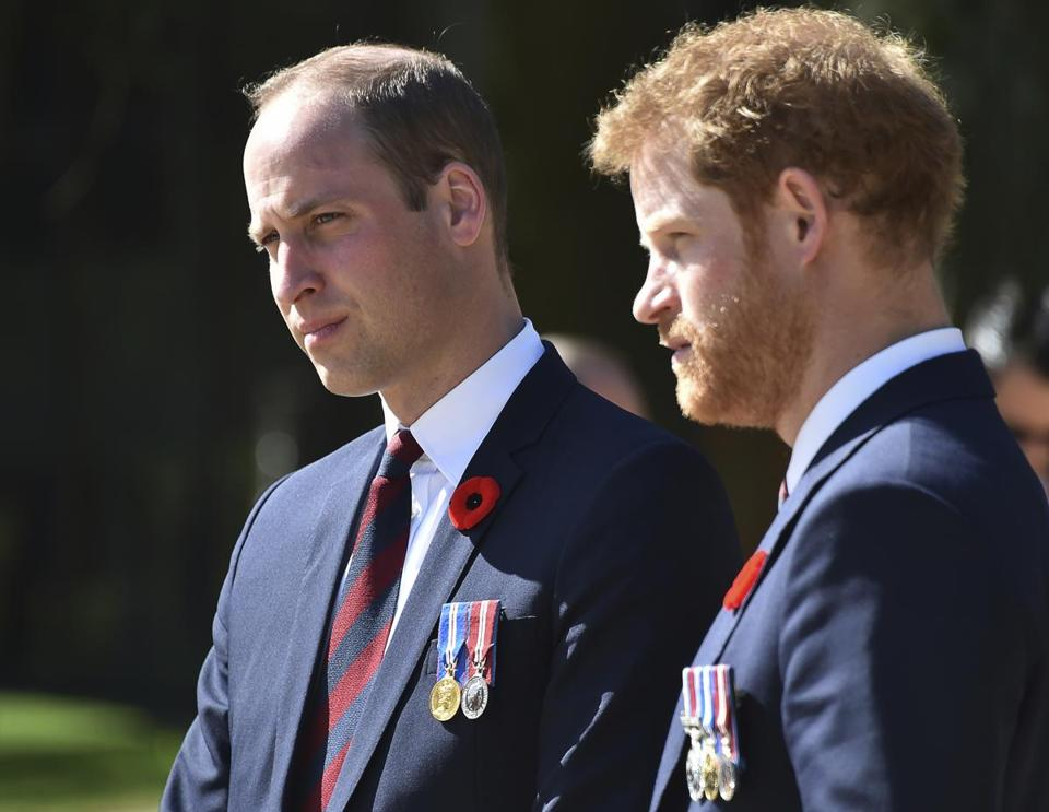 Prince William (left) and Prince Harry spoke of their responses to the death of their mother, Princess Diana.