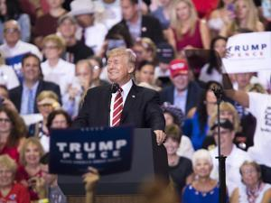 President Donald Trump spoke during a campaign-style rally at the Phoenix Convention Center.