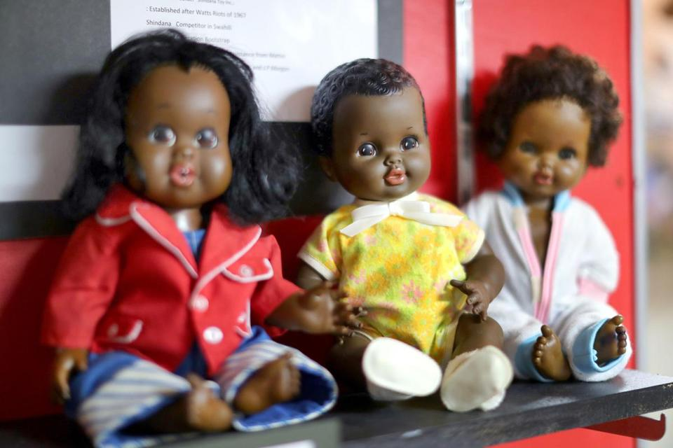 Mansfield-8/23/17 The National Black Doll Museum is in Mansfield with over 6,000 dolls of color. A group of Shindana dolls which came out after the Watts riots in Los Angeles. John Tlumacki/Globe Staff(south)