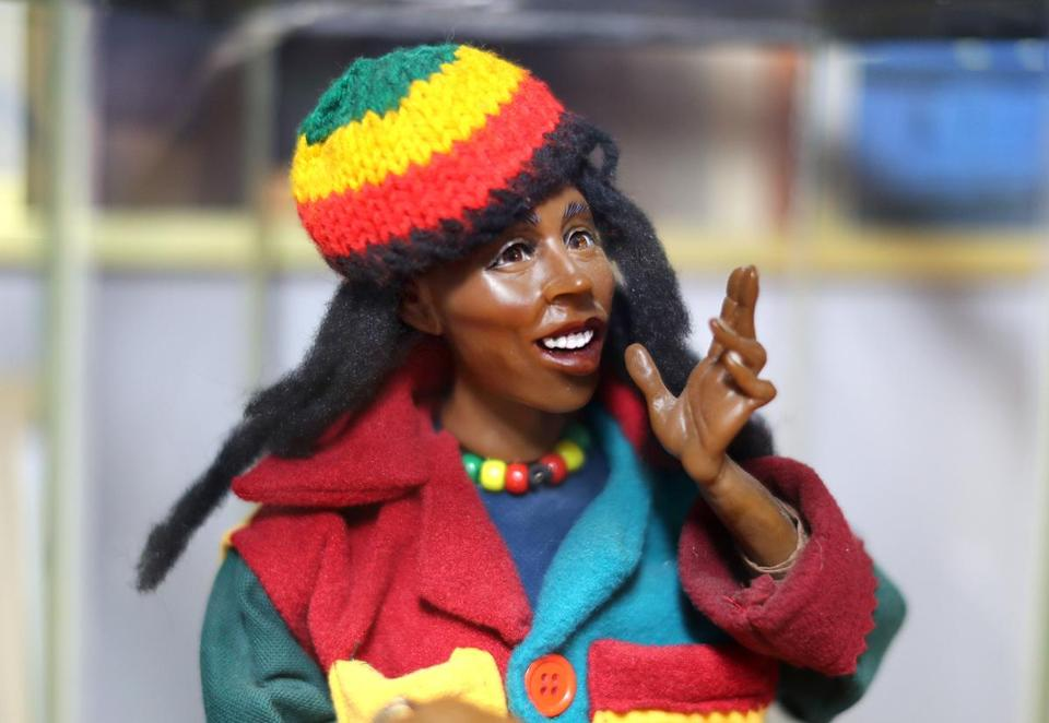 Mansfield-8/23/17 The National Black Doll Museum is in Mansfield with over 6,000 dolls of color. A Bob Marley doll with Marley's real hair. John Tlumacki/Globe Staff(south)