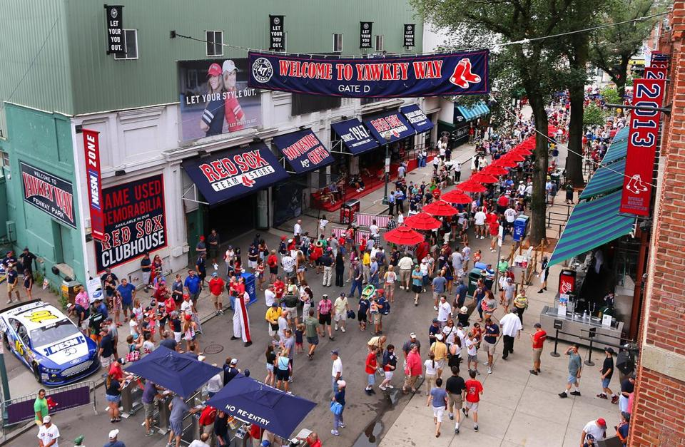 Yawkey Way at Fenway Park.