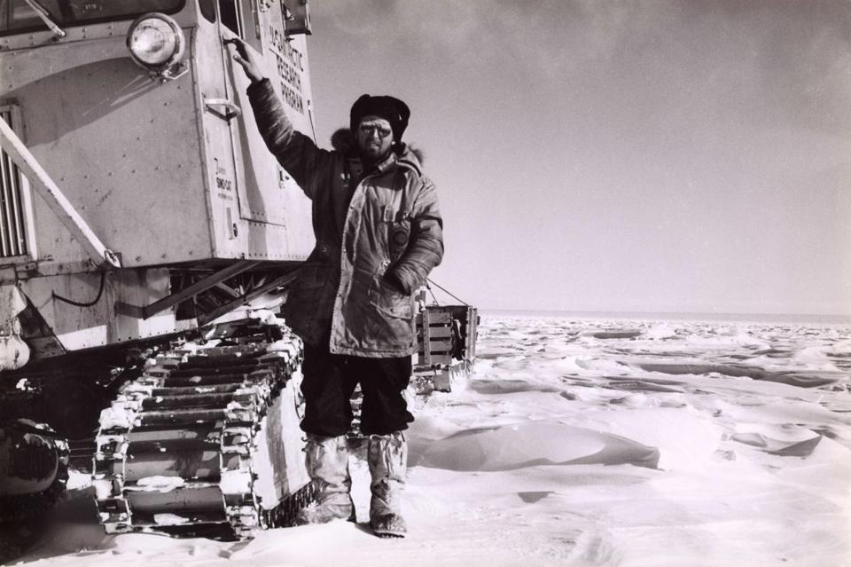 Charles Bentley on a research trip to Antarctica in 1964. Dr. Bentley made more than 15 trips to the Antarctic, the last in 2009.