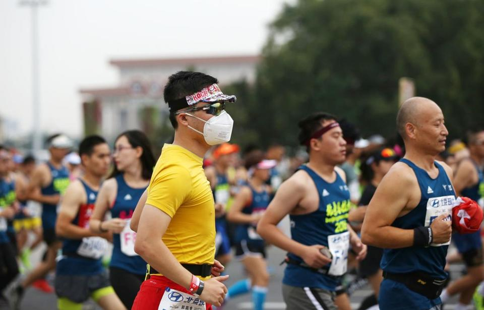 Air quality can be a concern for runners in China.