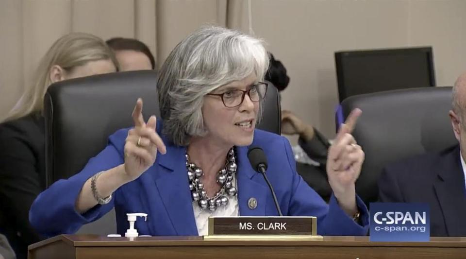Representative Katherine Clark of Massachusetts is a cosponsor of the House version of Sanders' single-payer bill