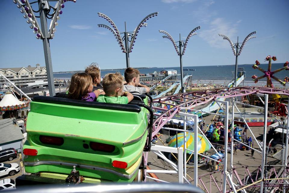 Passengers got a great view of Old Orchard Beach's Palace Playland as they rode on the Galaxi roller coaster.