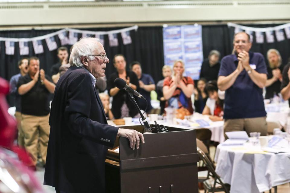 "Sanders said about President Trump: ""What he is doing day after day is not standing up for working-class people but standing up for the billionaire class."""