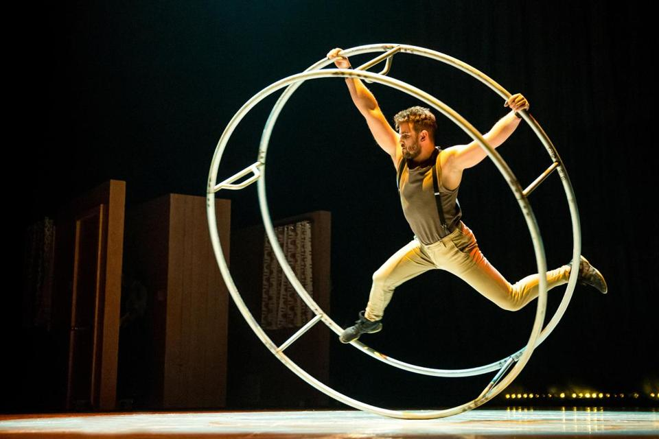 "ArtsEmerson presents the US premiere of ""Reversible,"" the new production by circus troupe The 7 Fingers, at the Cutler Majestic Theatre."