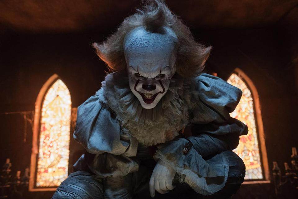 "Bill Skarsgård as Pennywise in ""It."""
