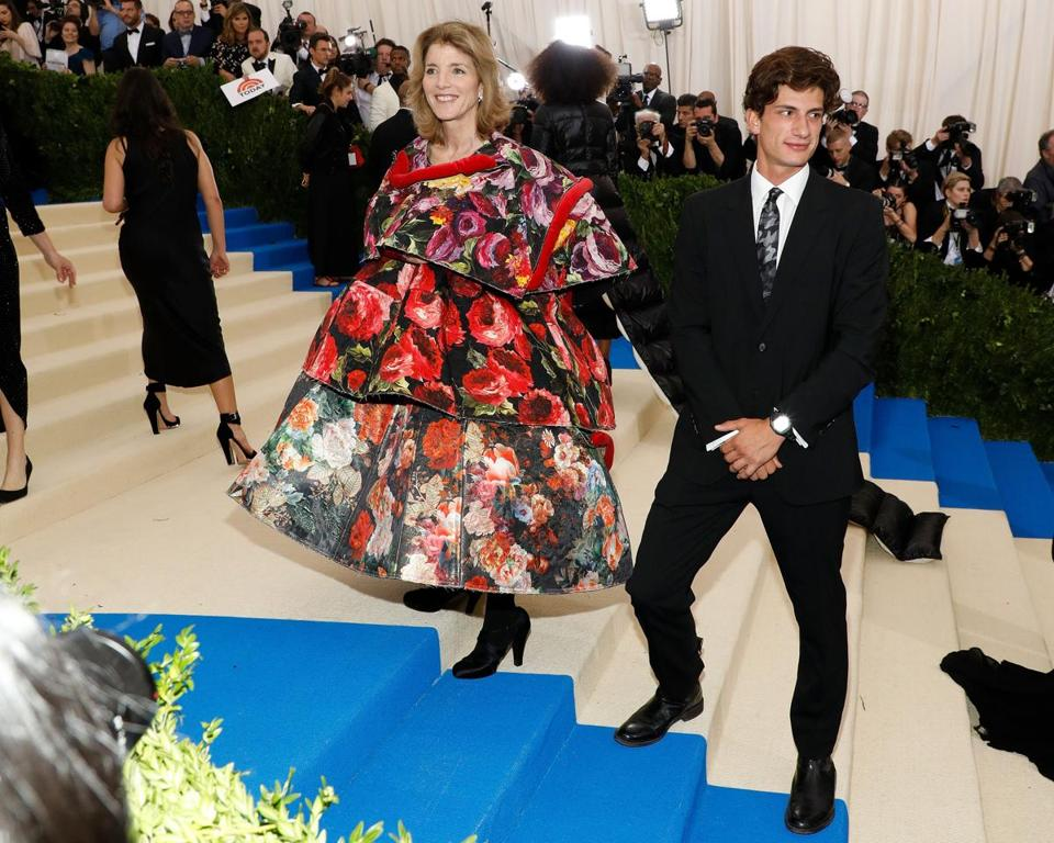Jack Schlossberg with his mom, Caroline Kennedy, at New York's Metropolitan Museum of Art in May.
