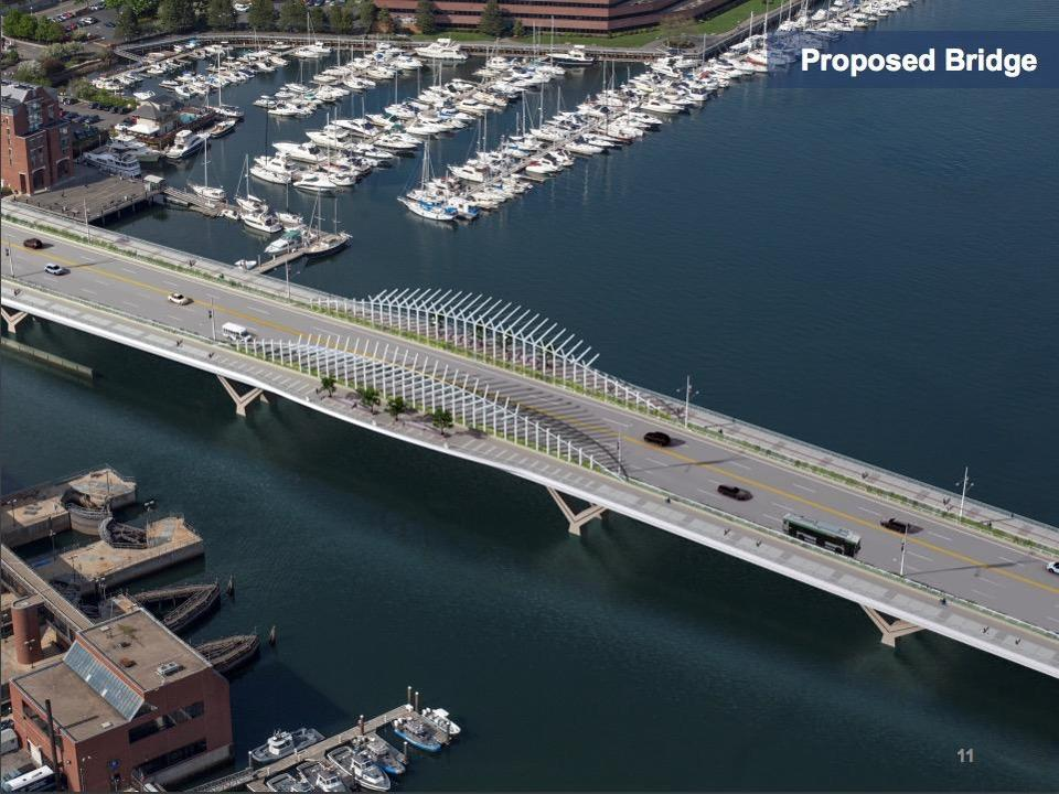 07charlestown - Renderings of the proposed update to the North Washington Street Bridge, which links Charlestown with Boston's North End. (MassDot)
