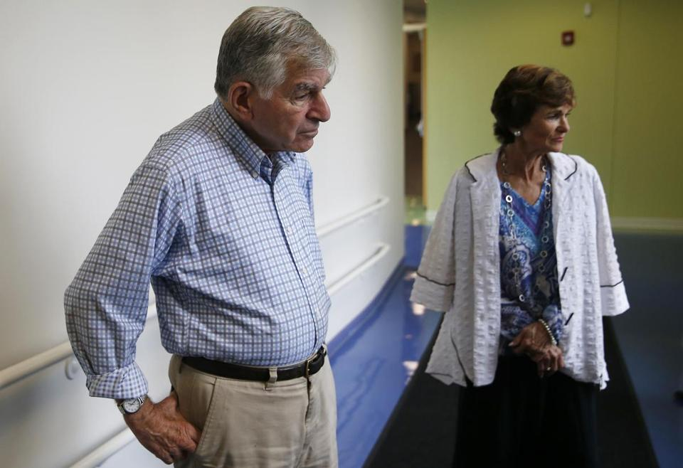 Former Massachusetts governor Michael Dukakis and his wife, Kitty, toured the New England Center for Children.