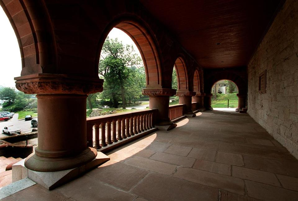 Easton,MA-6/26/98- Arches in Oakes Ames Memorial Hall.