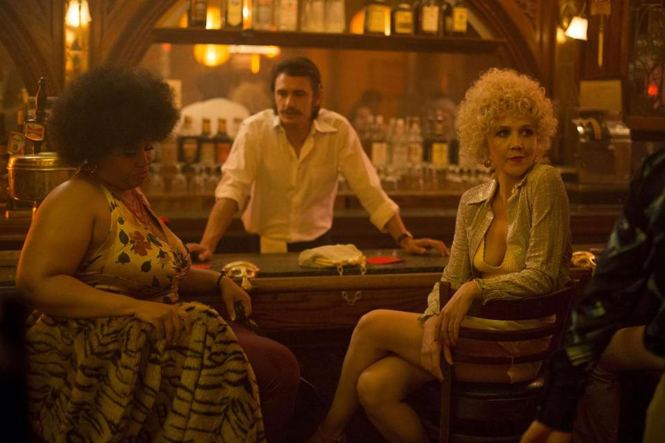 "From left: Pernell Walker, James Franco, and Maggie Gyllenhaal in ""The Deuce."""