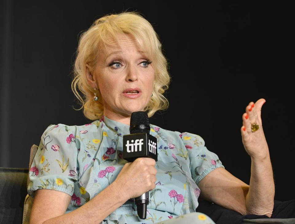 English actress Miranda Richardson attends the press conference for the movie 'Stronger' during the  Toronto International Film Festival.