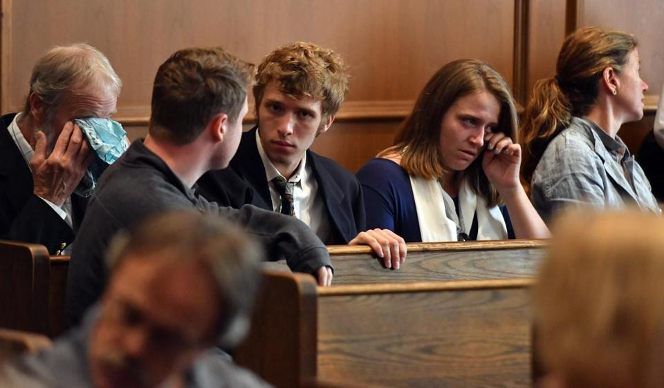 Famiily and friends of the victims reacted during Krause's arraignment.