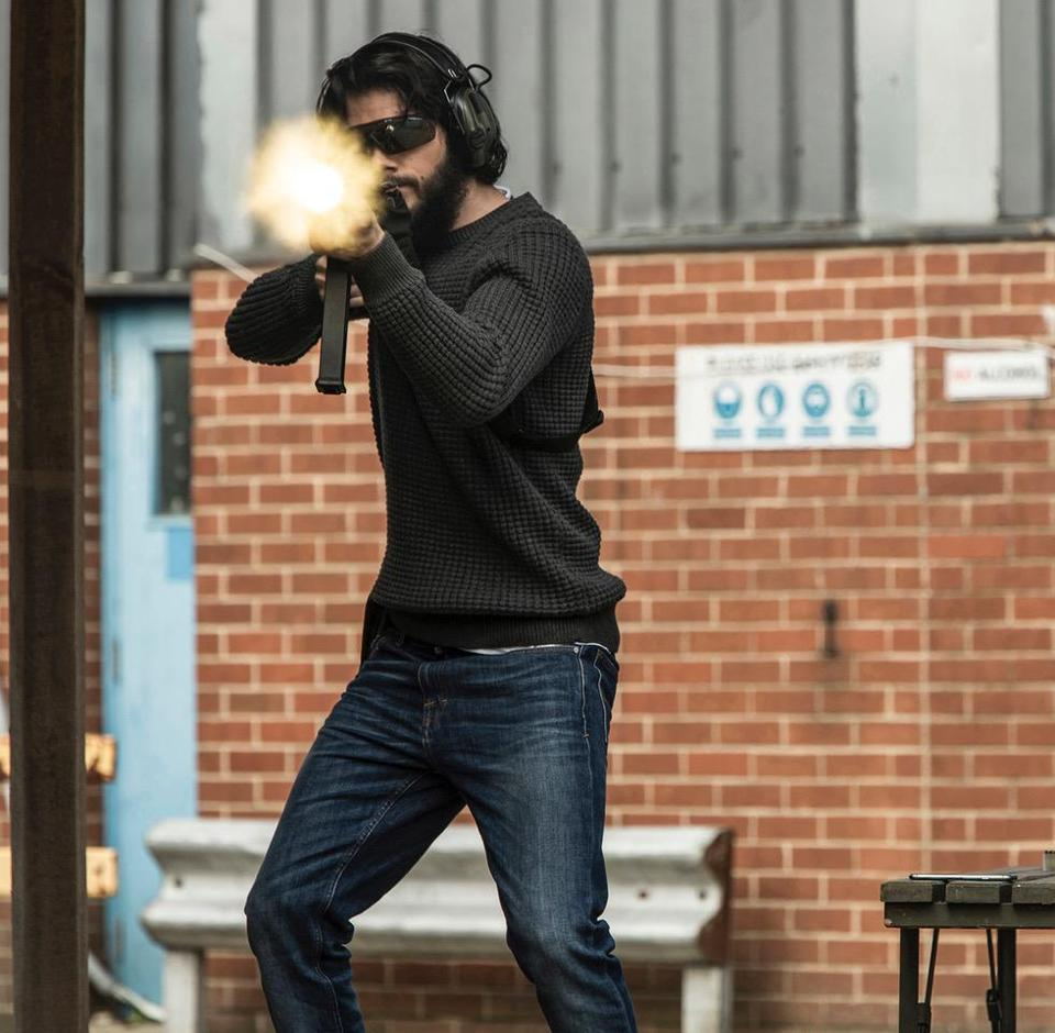 "Dylan O'Brien in a scene from ""American Assassin."""