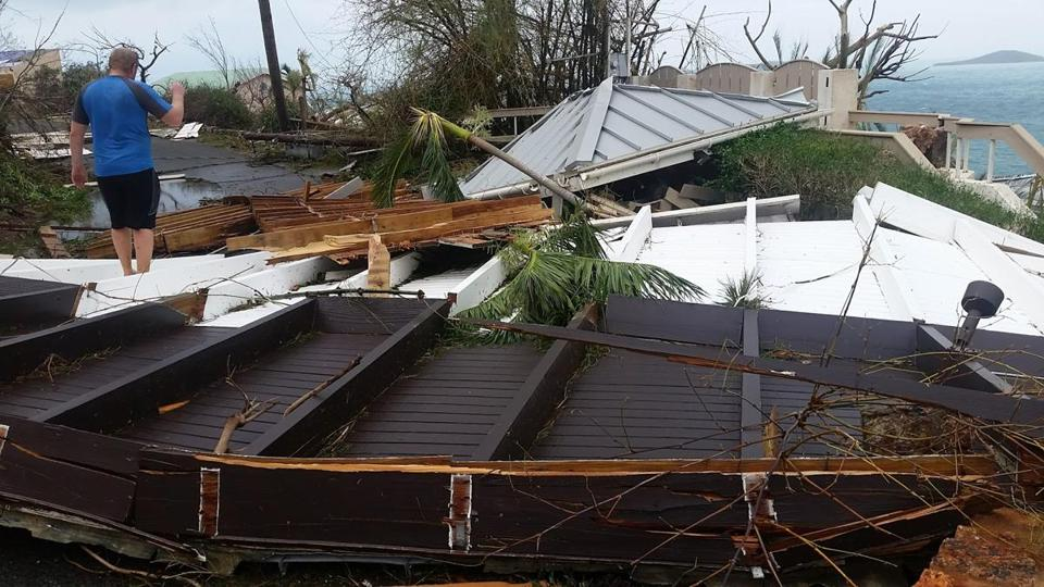 Residents on St. John inspected the damage caused by Hurricane Irma, which devastated the smallest of the US Virgin Islands.