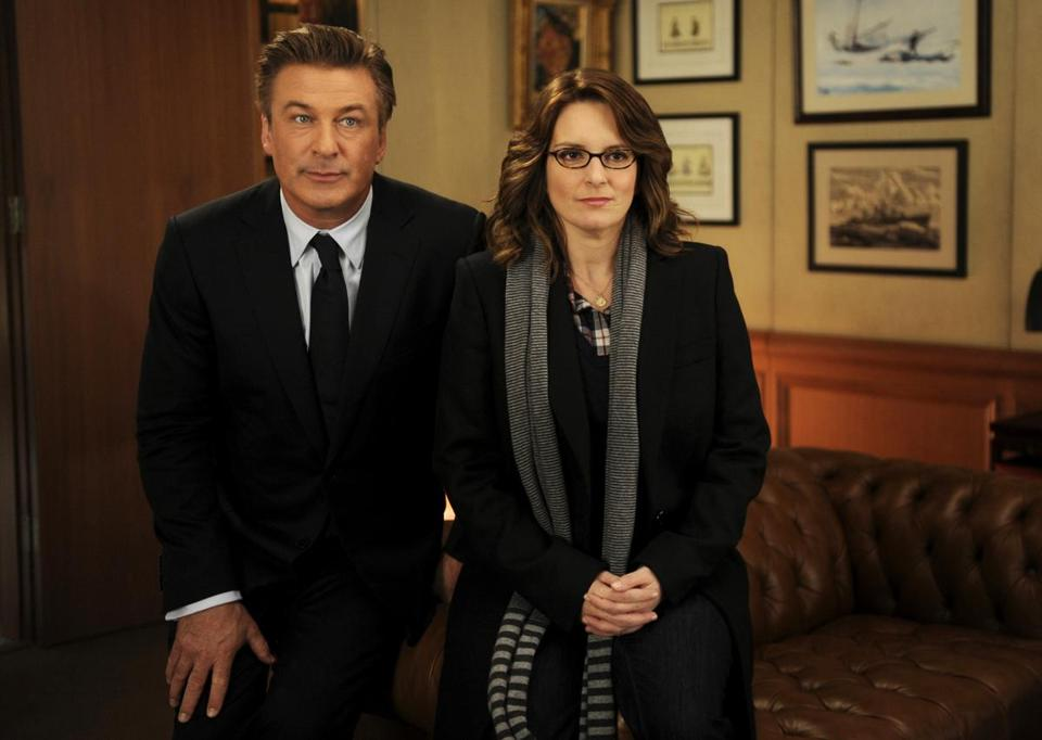 "Alec Baldwin and Tina Fey in ""30 Rock."""