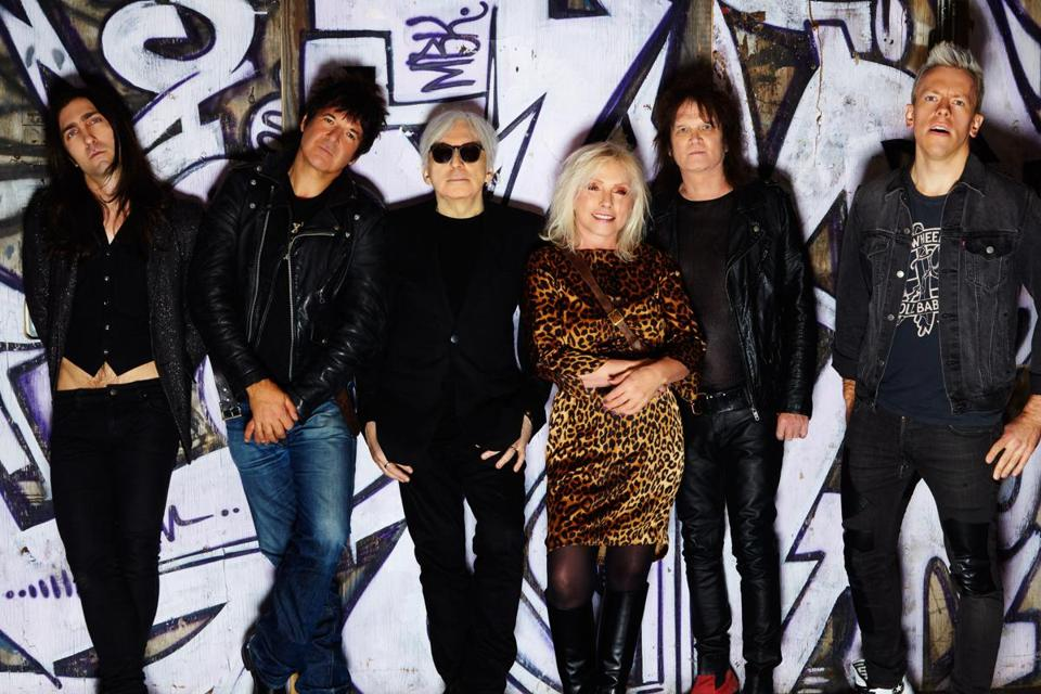 Drummer Clem Burke (second from left) and the rest of Blondie will play at the Hatch Shell.