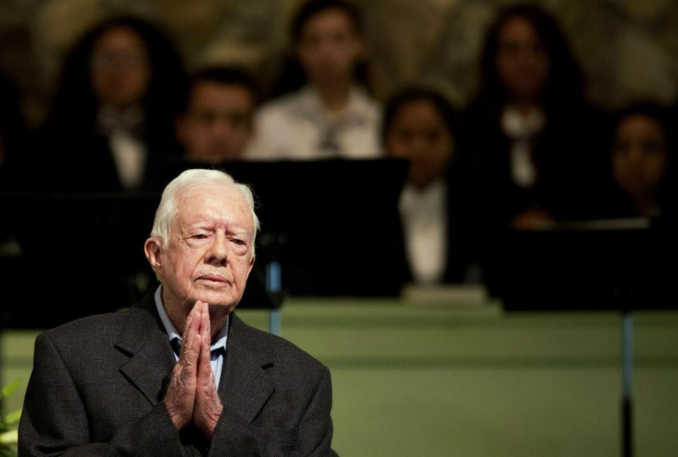 "President Carter's advice to President Trump: ""Keep the peace, promote human rights and tell the truth."""