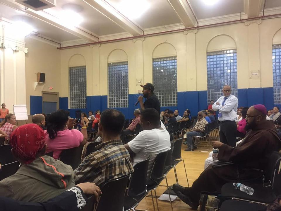 Dorchester resident Domingos DaRosa spoke at St. Peter's Catholic Charities Teen Center Wednesday evening during a discussion about a recent spate of violence in Boston's Cape Verdean community.