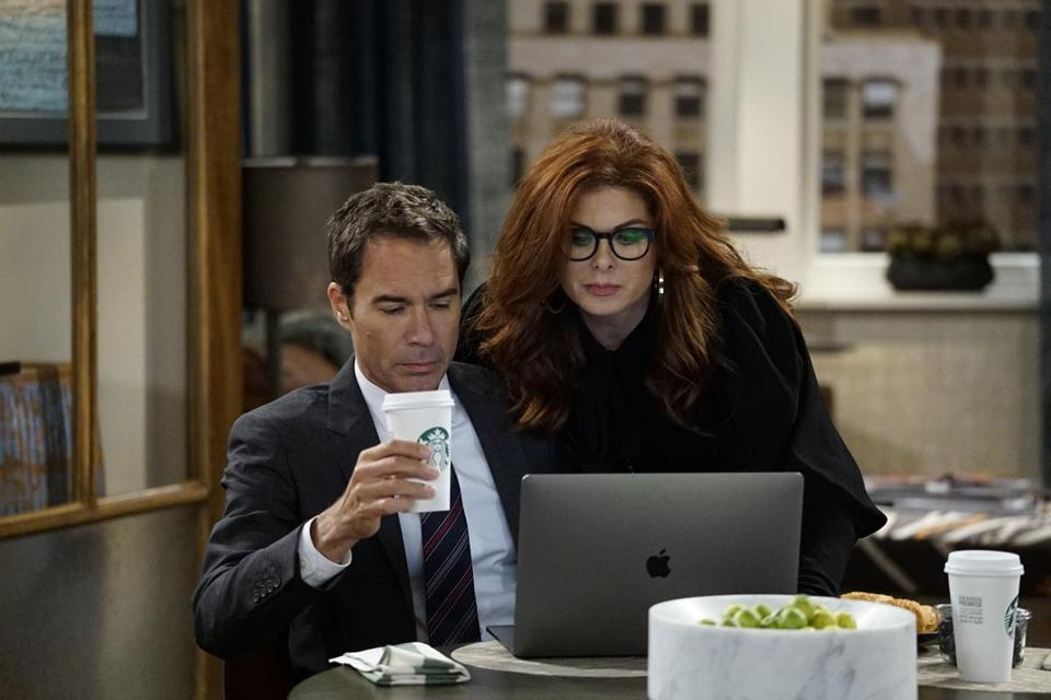 "Eric McCormack and Debra Messing in the revival of ""Will & Grace."""