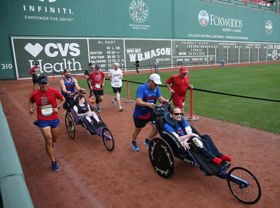 Rick Hoyt Jr. of Boston Marathon fame participated.